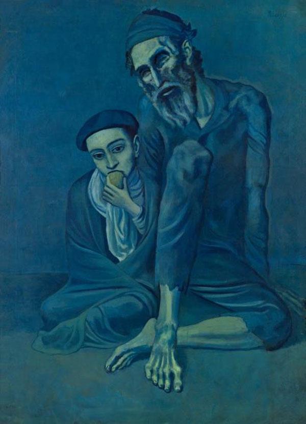 Pablo-Picasso_Le-vieux-Juif-avec-un-garcon_1903