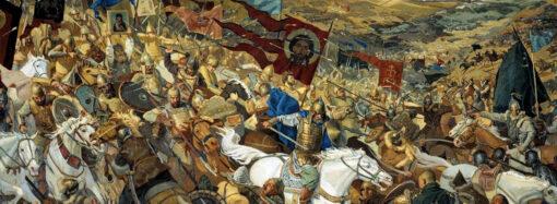 Допрос языка Мамаем накануне Куликовской битвы