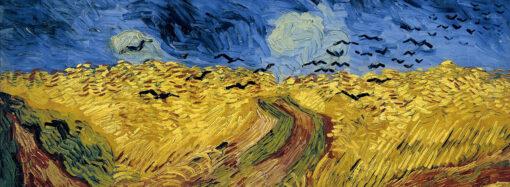 Пшеничное поле с воронами (из Ван Гога)